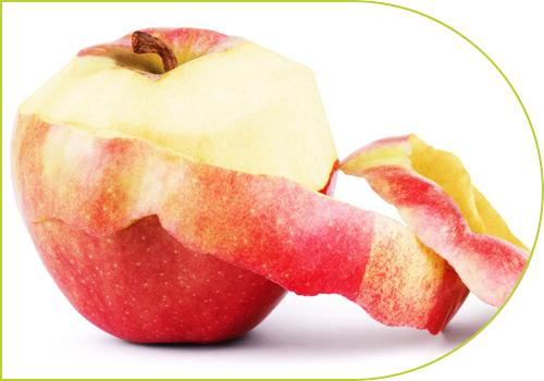 Manzana con cáscara