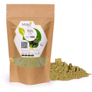 super alimento alfalfa en polvo